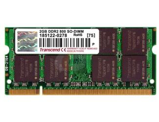 Transcend - DDRam2 - 2GB - Bus 800Mhz - PC 6400 For Notebook