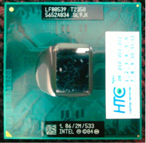 Intel® Core™ Duo Processor T2350 (2M Cache, 1.86 GHz, 533 MHz FSB)