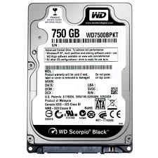 HDD 750gb sata Westem