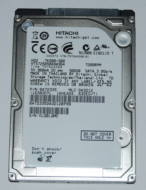 HGST (HITACHI) 500GB - 7200rpm - 16MB Cache - SATA 3